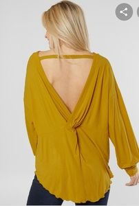 New Free People open back oversized tunic top